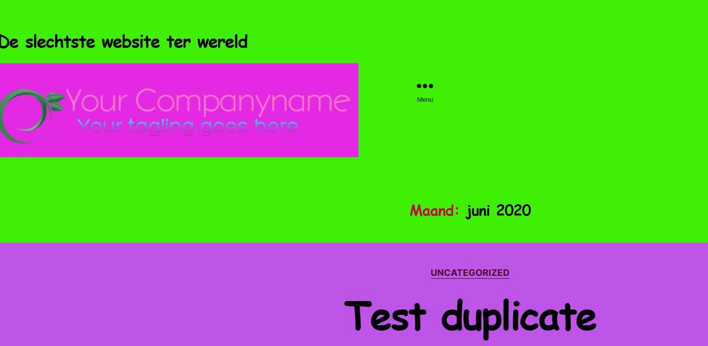 De slechtste website ter wereld